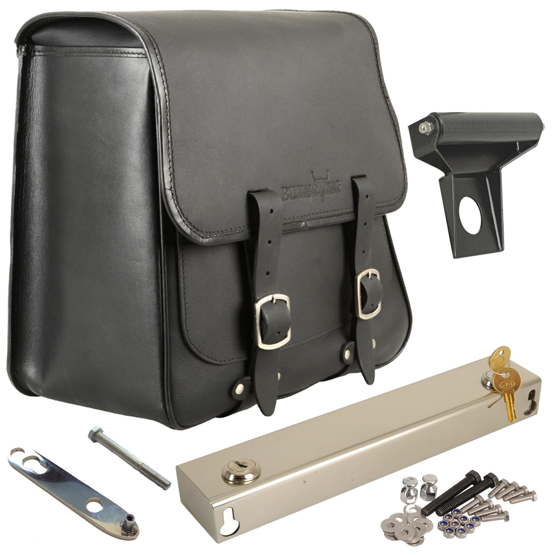 aus Edelstahl /& Softail-Modelle bis 2017 rechte Seite abnehmbar Abstandsrolle 25 mm Achsdurchmesser passend f/ür Dyna Buffalo Bag.
