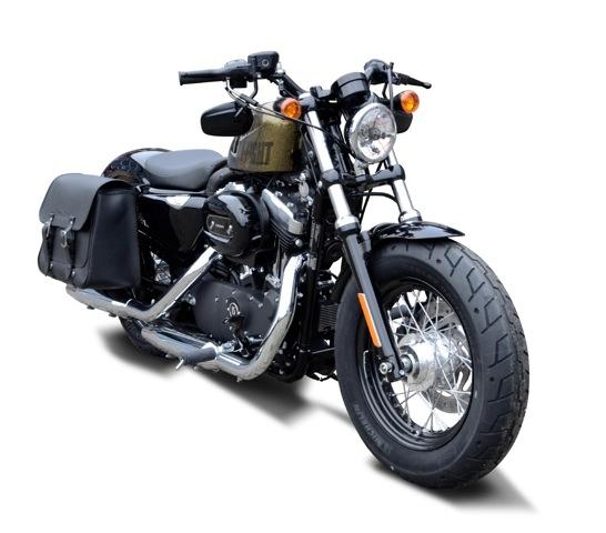 95-15 Buffalo Bag Halter Satteltasche rechte Seite Harley Sportster Custom 883